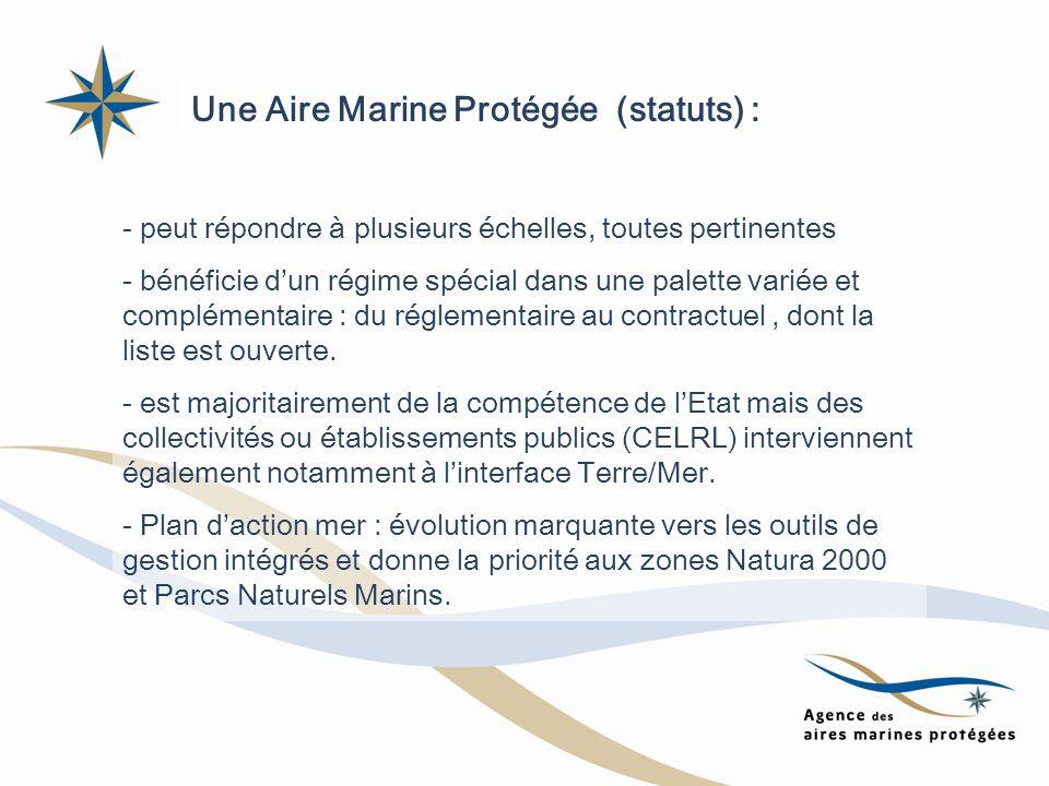 Une Aire Marine Protégée (statuts) :