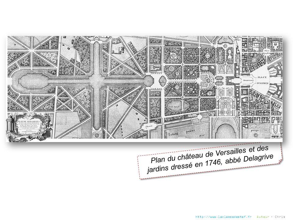 Plan du château de Versailles et des jardins dressé en 1746, abbé Delagrive