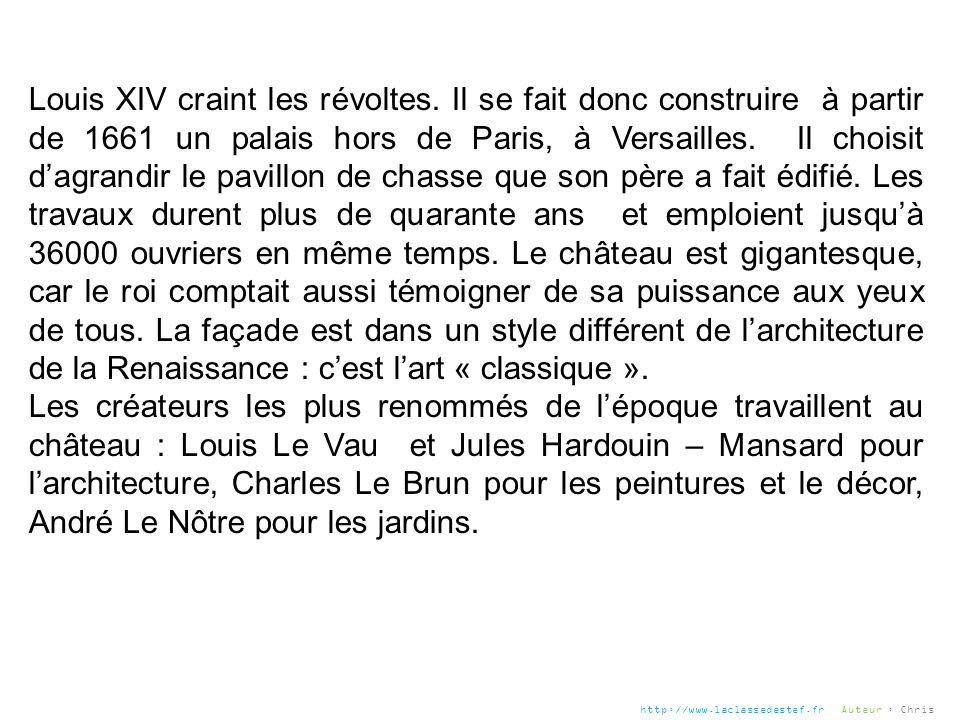 Louis XIV craint les révoltes