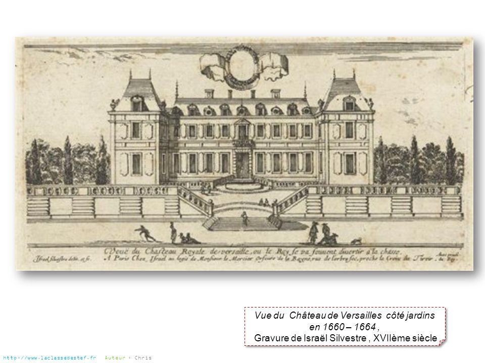 Vue du Château de Versailles côté jardins en 1660 – 1664 ,