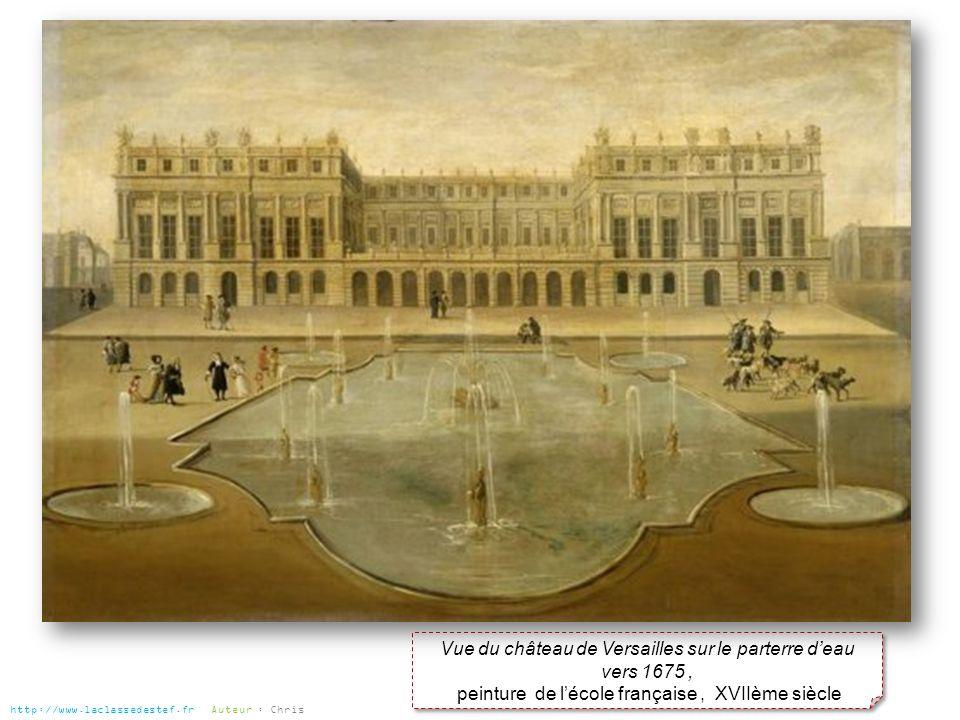 Vue du château de Versailles sur le parterre d'eau vers 1675 ,