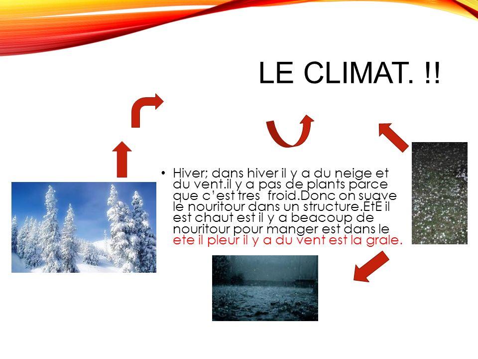 Le climat. !!