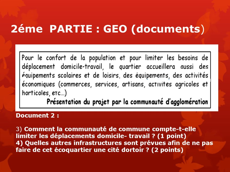 2éme PARTIE : GEO (documents)