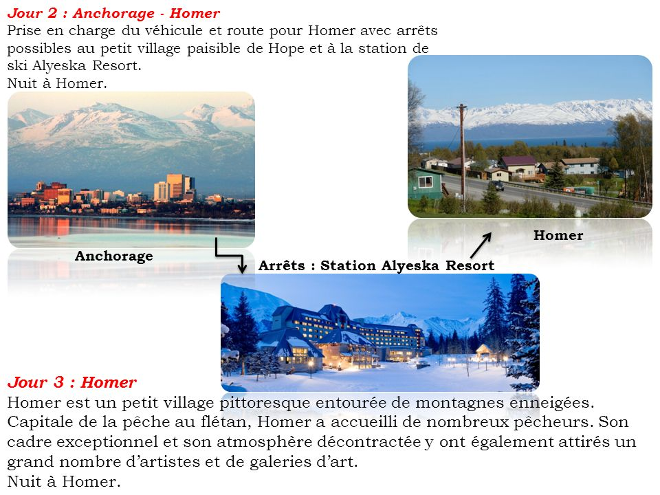 Jour 2 : Anchorage - Homer