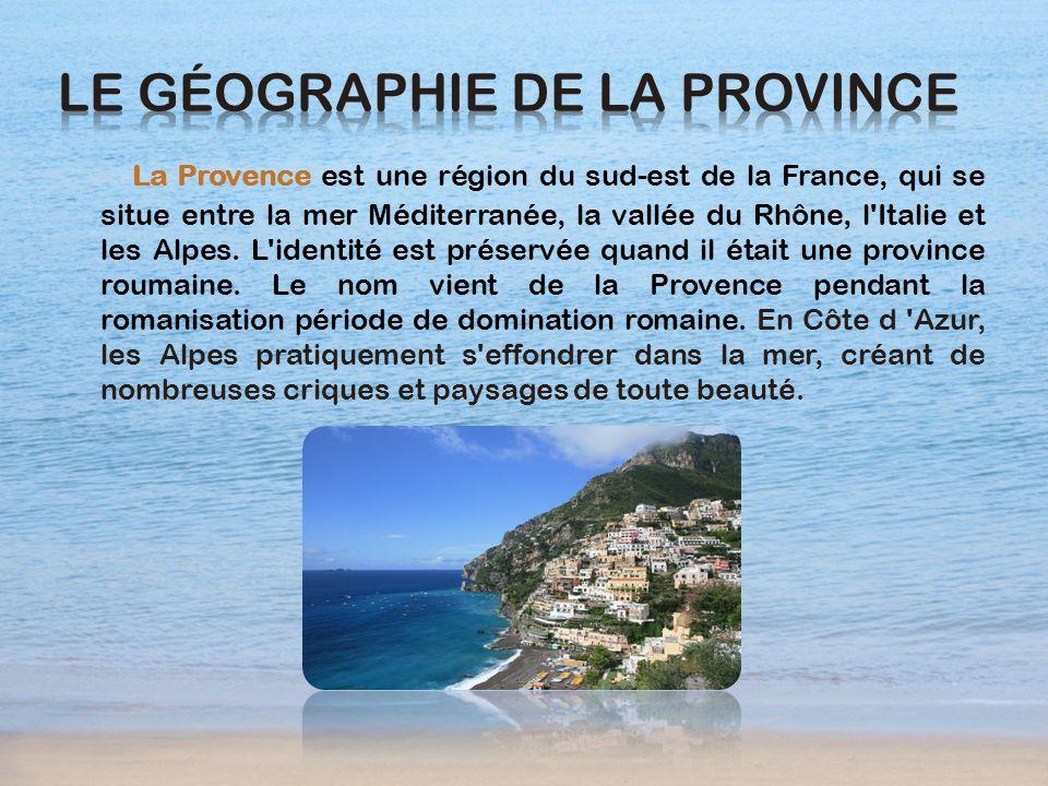 Le géographie de la Province
