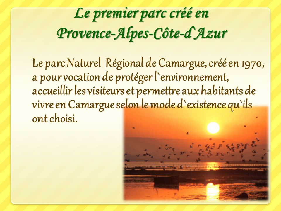 Le premier parc créé en Provence-Alpes-Côte-d`Azur