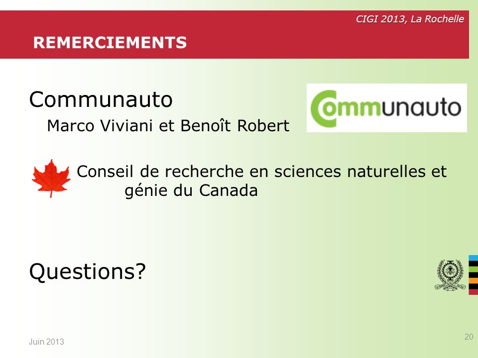 Communauto Questions Remerciements Marco Viviani et Benoît Robert