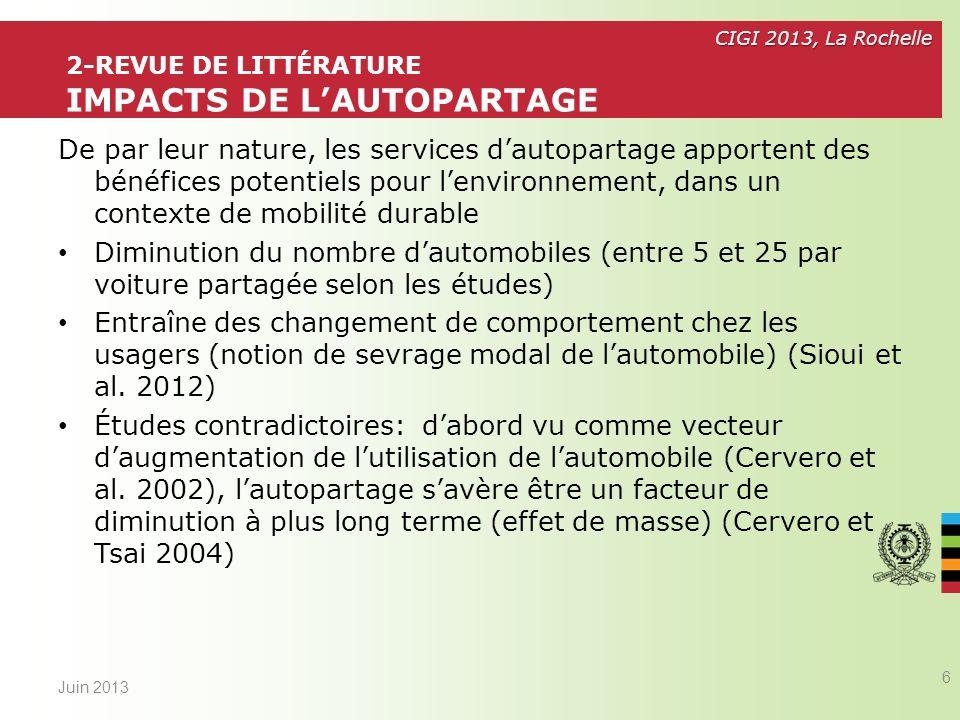 2-Revue de littérature impacts de l'autopartage