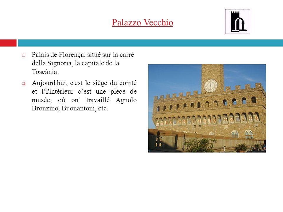 Palazzo Vecchio Palais de Florença, situé sur la carré della Signoria, la capitale de la Toscânia.