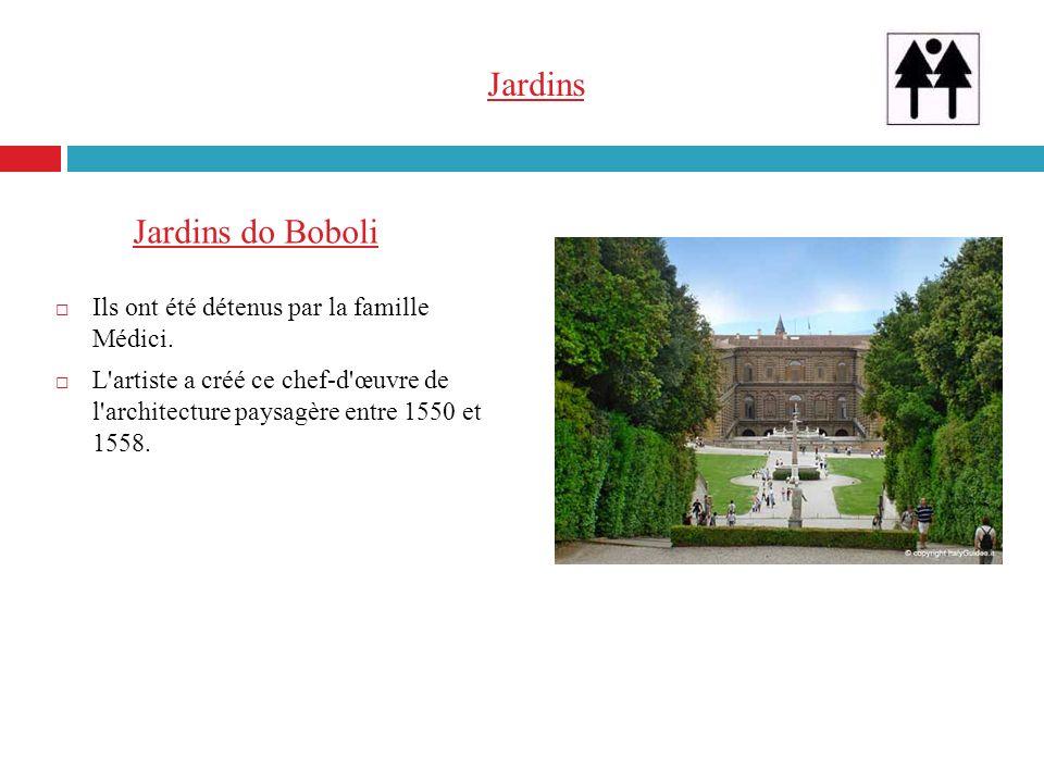Jardins Jardins do Boboli Ils ont été détenus par la famille Médici.