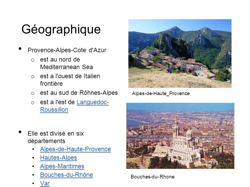 Géographique Provence-Alpes-Cote d Azur