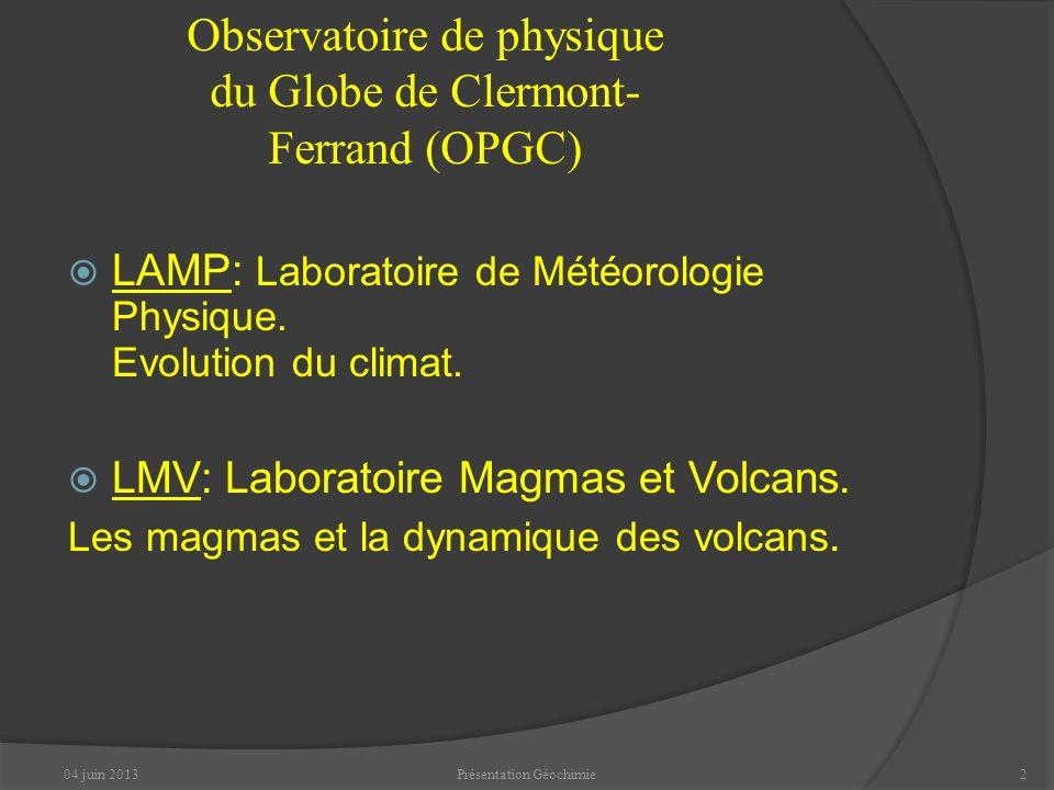 Observatoire de physique du Globe de Clermont-Ferrand (OPGC)
