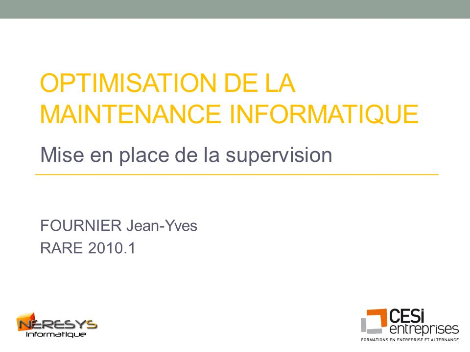 Optimisation de la maintenance informatique