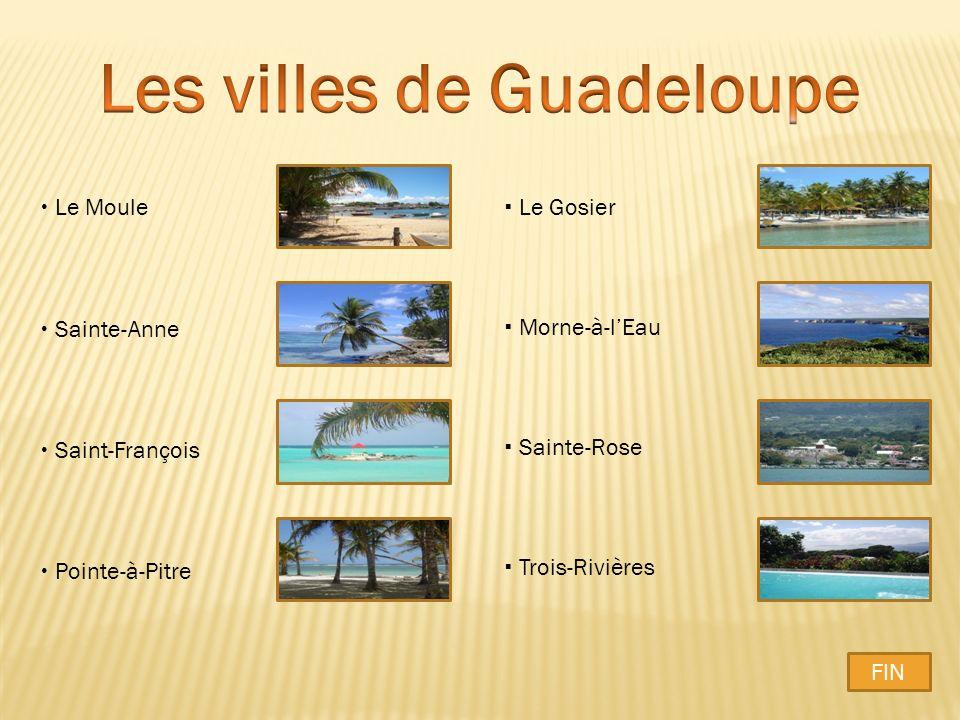 Les villes de Guadeloupe
