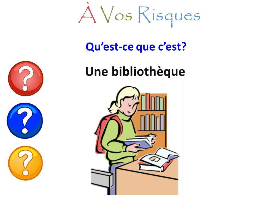À Vos Risques Qu'est-ce que c'est Une bibliothèque