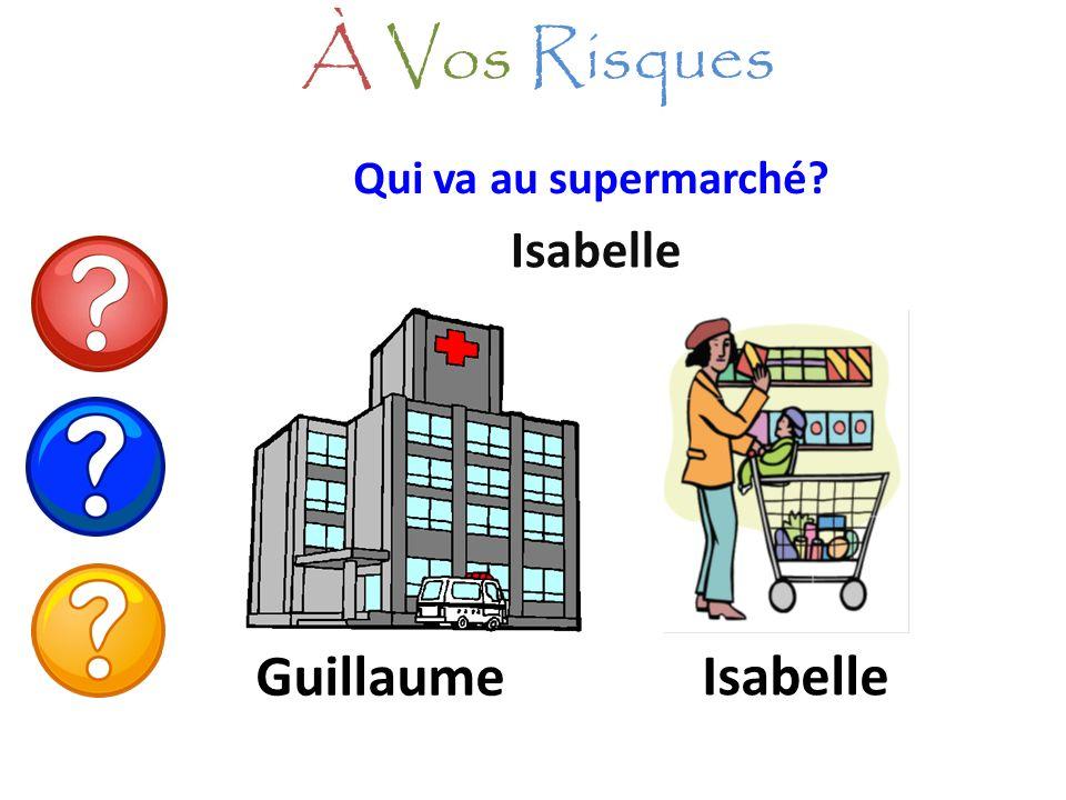 À Vos Risques Qui va au supermarché Isabelle Guillaume Isabelle