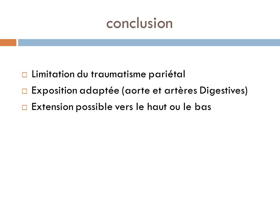 conclusion Limitation du traumatisme pariétal