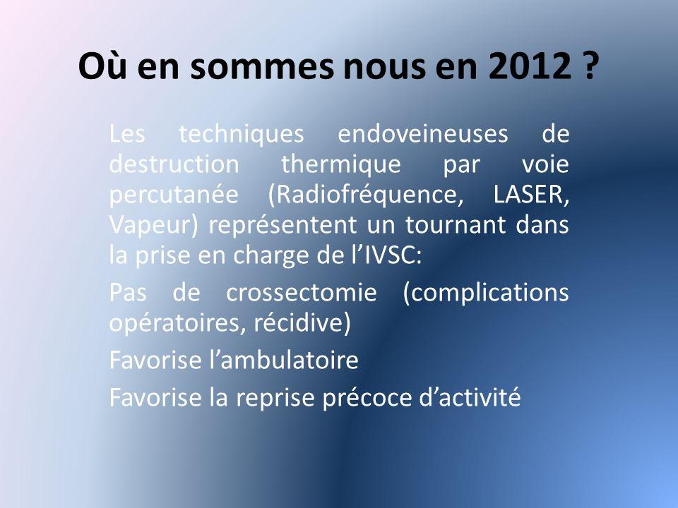 Où en sommes nous en 2012