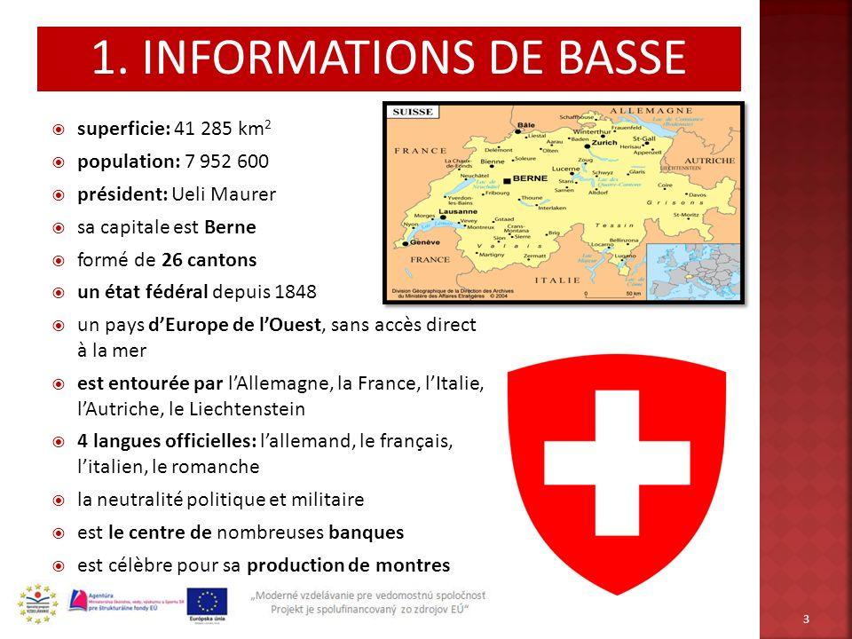1. INFORMATIONS DE BASSE superficie: 41 285 km2 population: 7 952 600