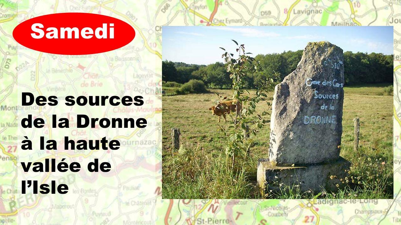 Des sources de la Dronne à la haute vallée de l'Isle