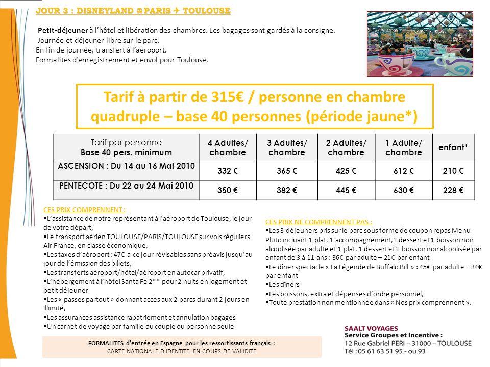 JOUR 3 : DISNEYLAND PARIS  TOULOUSE