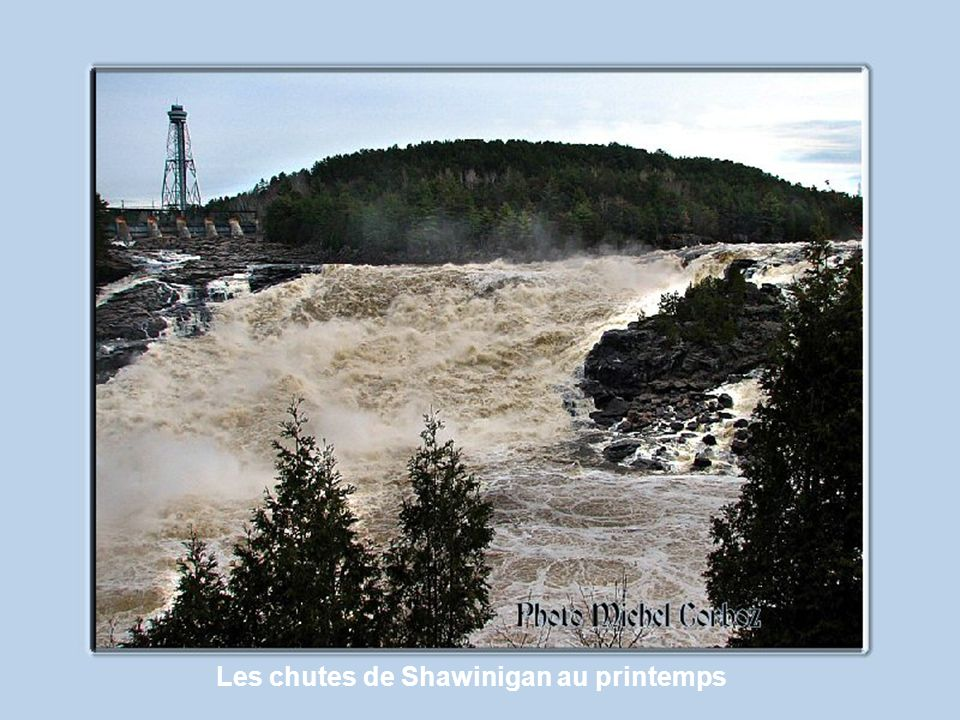 Les chutes de Shawinigan au printemps