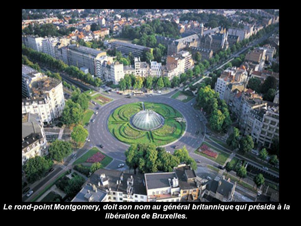 Le rond-point Montgomery, doit son nom au général britannique qui présida à la libération de Bruxelles.