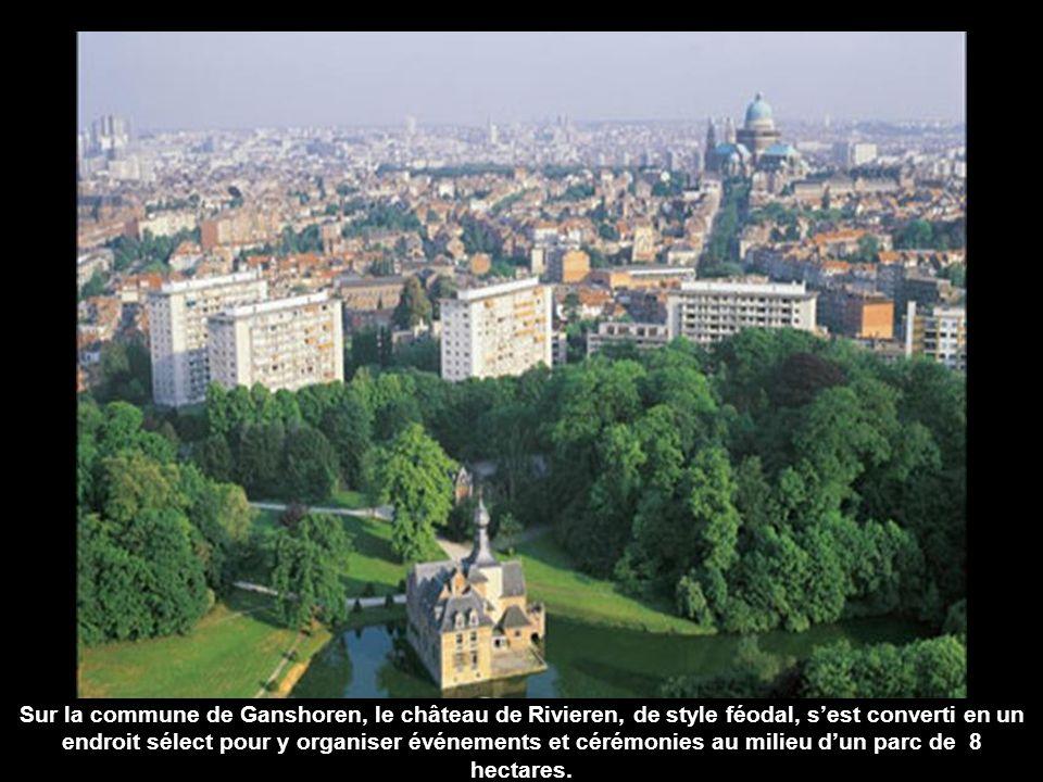 Sur la commune de Ganshoren, le château de Rivieren, de style féodal, s'est converti en un endroit sélect pour y organiser événements et cérémonies au milieu d'un parc de 8 hectares.