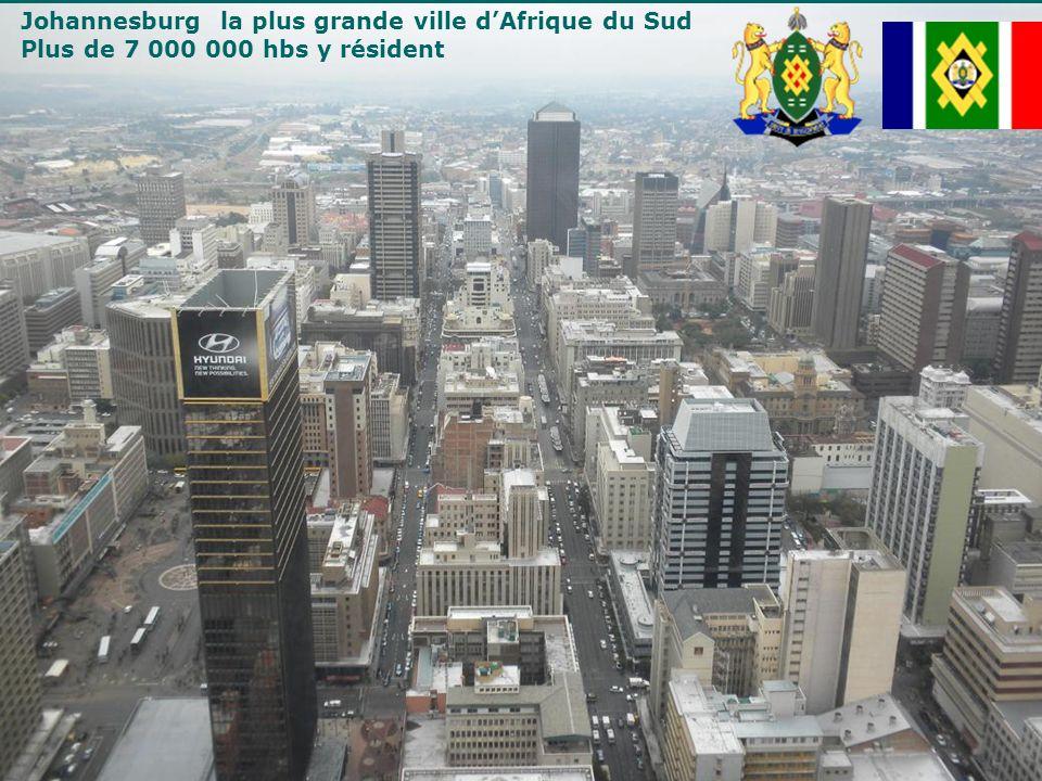 Johannesburg la plus grande ville d'Afrique du Sud
