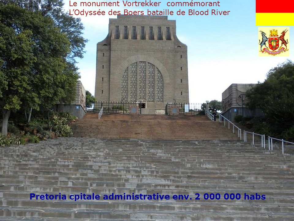 Pretoria cpitale administrative env. 2 000 000 habs