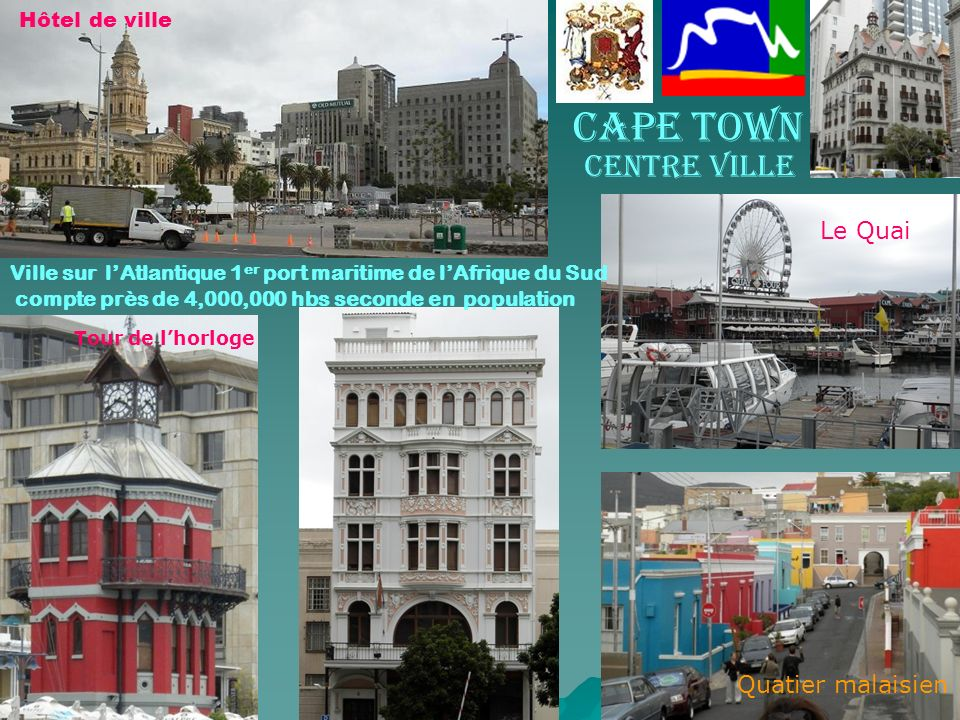 Cape Town Le Quai Quatier malaisien Hôtel de ville