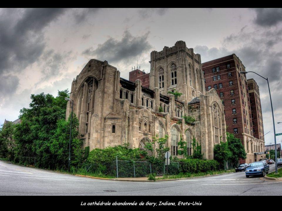 La cathédrale abandonnée de Gary, Indiana, Etats-Unis