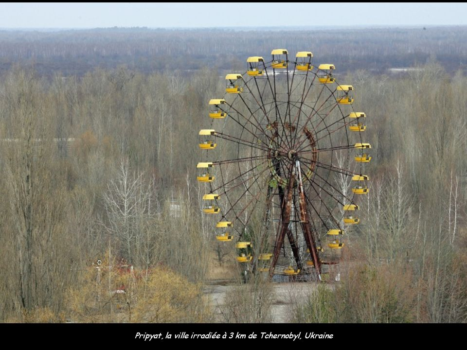 Pripyat, la ville irradiée à 3 km de Tchernobyl, Ukraine