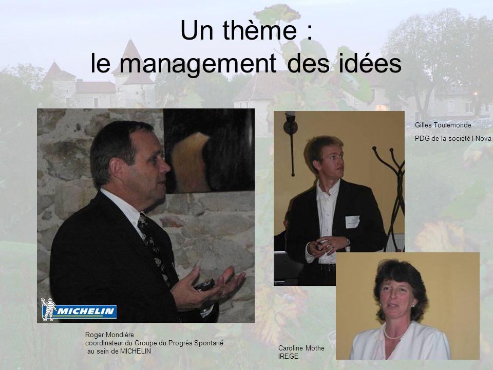 Un thème : le management des idées