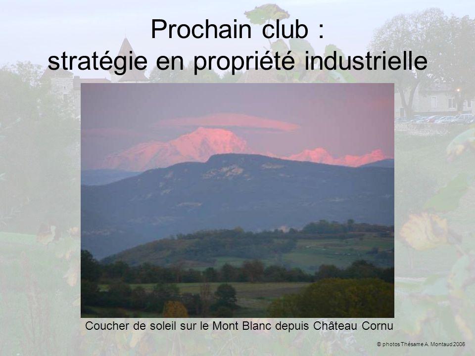 Prochain club : stratégie en propriété industrielle