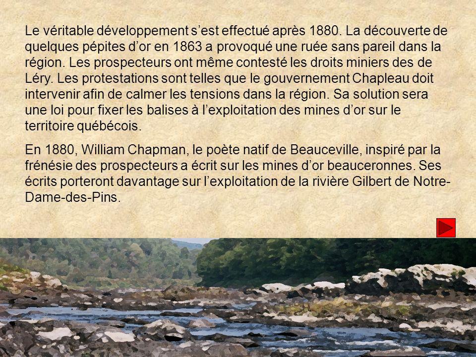 Le véritable développement s'est effectué après 1880
