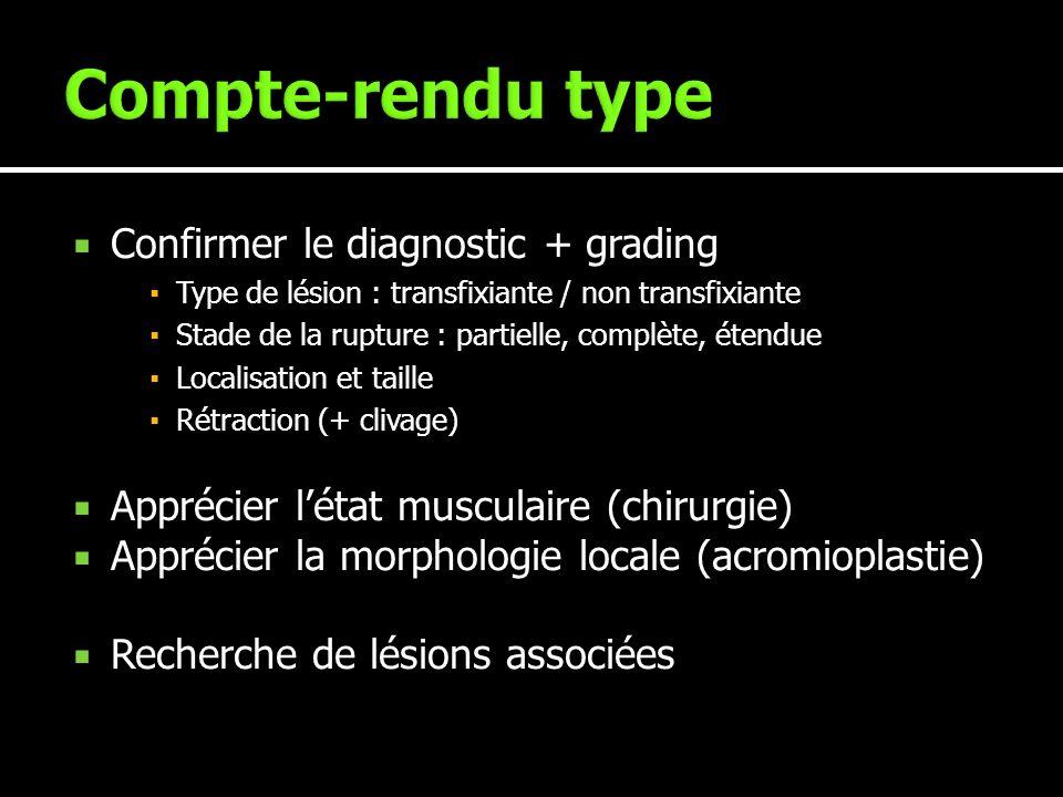 Compte-rendu type Confirmer le diagnostic + grading