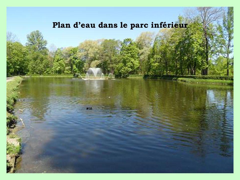 Plan d'eau dans le parc inférieur