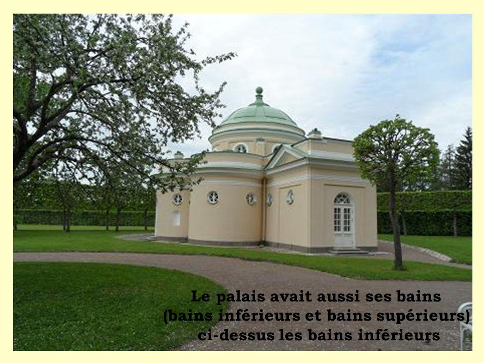 Le palais avait aussi ses bains (bains inférieurs et bains supérieurs) ci-dessus les bains inférieurs