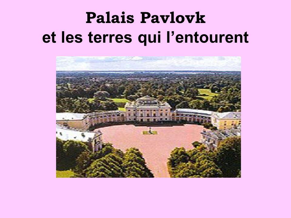 Palais Pavlovk et les terres qui l'entourent