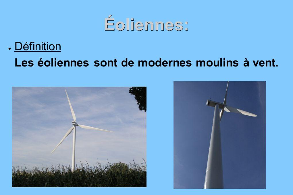 Les éoliennes sont de modernes moulins à vent.