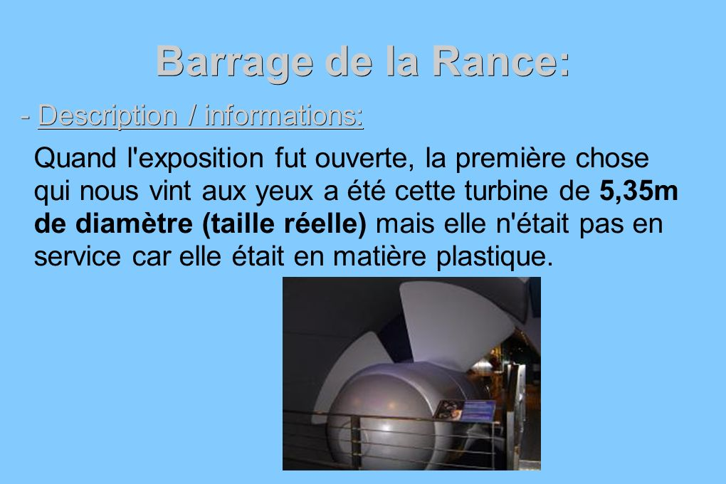 Barrage de la Rance: - Description / informations: