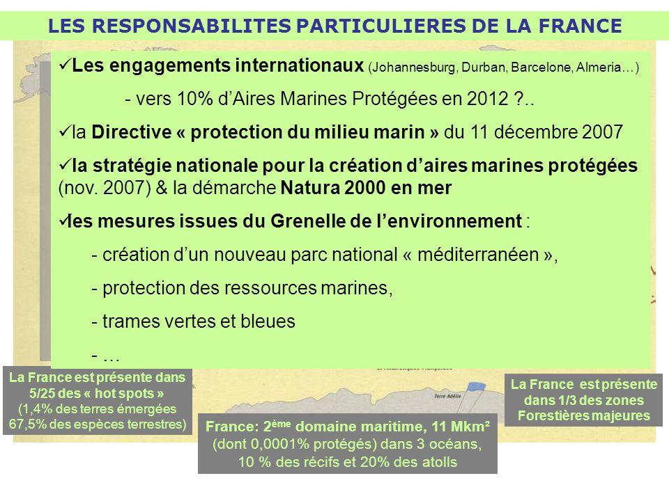 LES RESPONSABILITES PARTICULIERES DE LA FRANCE