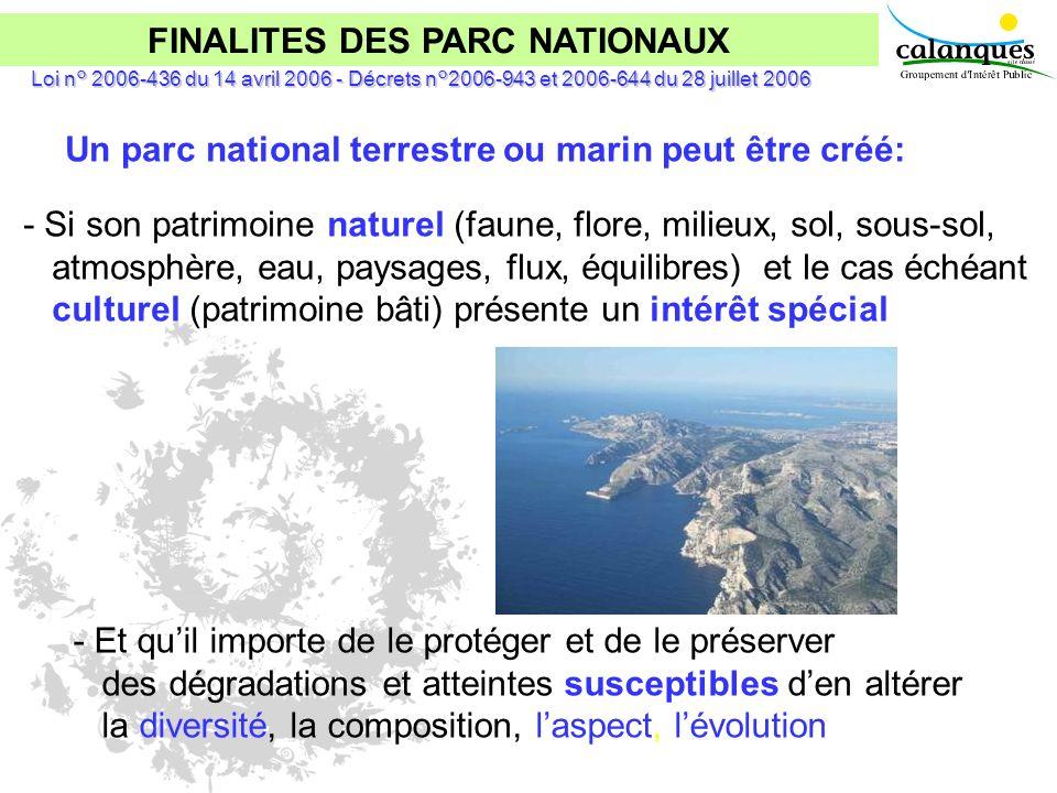 FINALITES DES PARC NATIONAUX