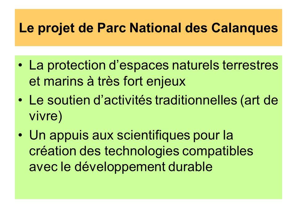 Le projet de Parc National des Calanques