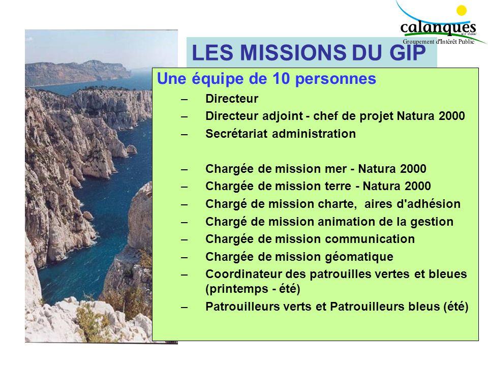 LES MISSIONS DU GIP Une équipe de 10 personnes