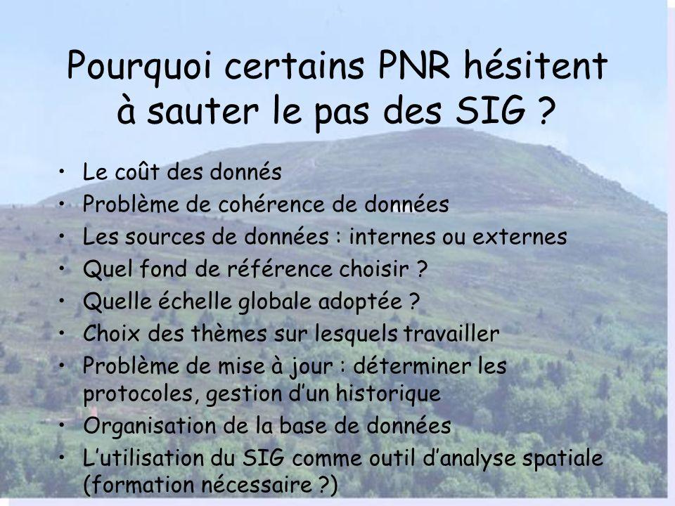Pourquoi certains PNR hésitent à sauter le pas des SIG