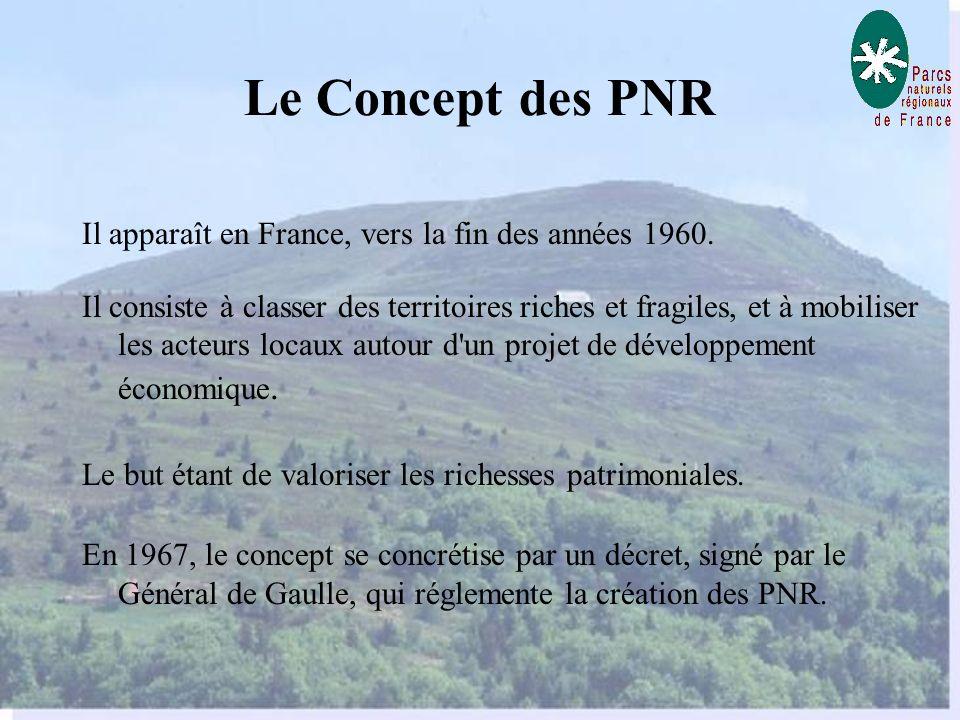 Le Concept des PNR Il apparaît en France, vers la fin des années 1960.