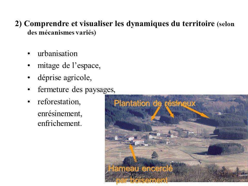 2) Comprendre et visualiser les dynamiques du territoire (selon des mécanismes variés)
