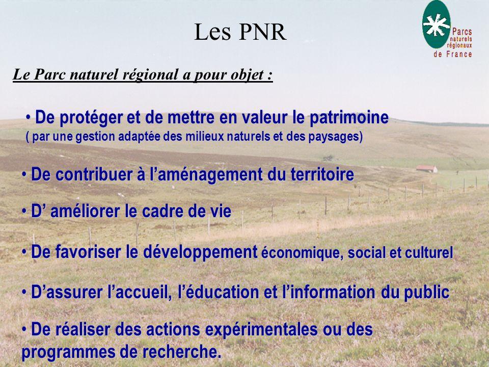 Le Parc naturel régional a pour objet :